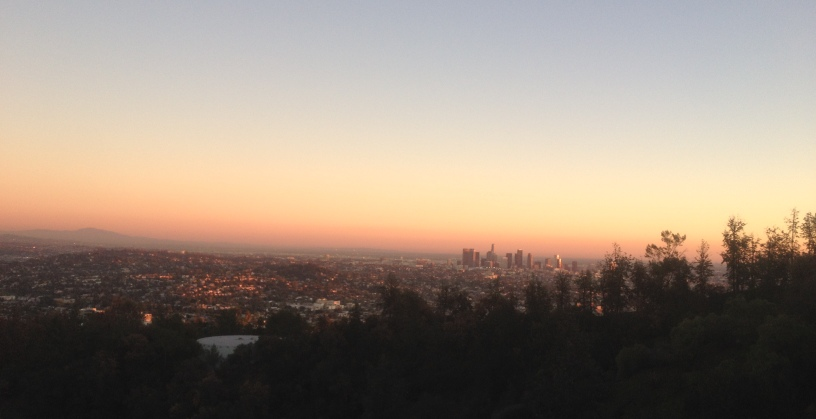 Los Angeles sunset view from Griffith Observatory